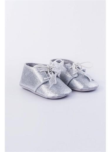 First Step Simli Bebek Ayakkabısı  G-2109 Gümüş